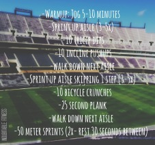 stadium workout